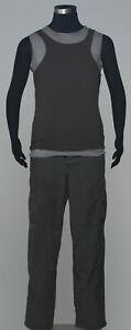 *SCREEN USED* Battlestar Galactica B&C DISTRESSED Tanks, BDU Pant & Cap Costume