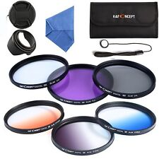 62mm UV CPL FLD Graduated Color Filter Kit for  Tamron 18-200mm 70-300mm LF421