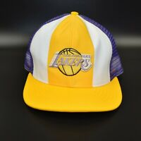 Los Angeles Lakers AJD Lucky Stripes NBA Vintage 80s 90s Men's Snapback Cap Hat