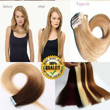 "Tape in 60PCS 150G Human Remy Hair Extensions Russian 7A Real Thick 12""-24"" USPS"