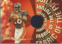 2004 Bowman Fabric of the Future #FFTB Tatum Bell Jersey