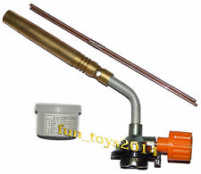 Long Burner Brazing Blowtorch Flame Gas Gun For AC Brazing crafts model making