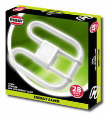 5 X Quality 100 Genuine EVEREADY Energy Saving Lamp Bulb 2d 2 Pin 28w 28 Watt
