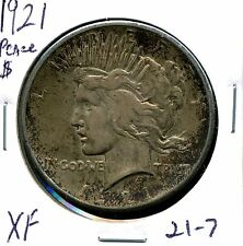 1921 $1 High Relief Peace Silver Dollar in XF Condition 21-7