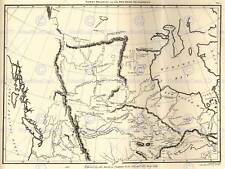 MAP ANTIQUE NORTH AMERICA CANADA HUDSONS BAY 30X40 FINE ART PRINT POSTER BB8206