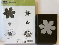 Stampin Up BEAUTIFUL BUNCH Stamps and FUN FLOWER Punch flower builder