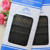 24Pcs Needles Self Threading Thread Home Tools Pins Assorted Hand Stitches DIY