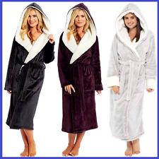 Women Long Sleeve Hooded Bathrobe Towel Soft Lounge Wear Sleepwear Warm Robe NEW