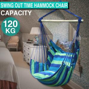 Gardern Deluxe Hanging Rope Hammock Chair Swing Seat Outdoor Indoor Camping AU