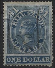 Canada Revenue VanDam # FB15 - $1.00 blue bill stamp of 1864 - used