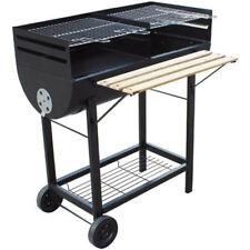 Barbecue a Carbone e Legna Papillon Wichita in Acciaio Doppia Griglia con Ruote