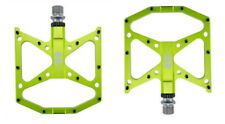 BIGDOG Steel MTB Road XC Bike Pedal 3 Bearing Flat-Platform Bicycle Pedals Green