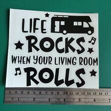 Life Rocks Motorhome logo - Camper/Car/Van/Fridge/Laptop Vinyl Decal Sticker