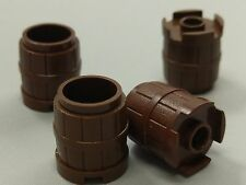 Bulk Lot Lego Part No.2489: Brown Container, Barrel 2 x 2 x 2, Qty x 4