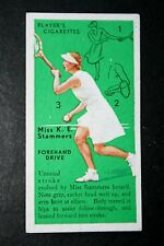 Womens Tennis    Kay Stammers  Original 1930's Vintage Action Card