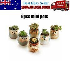 6x Cute Design Head Flower Planter Flowerpot Succulent Plant Pot Home Garden