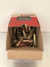 50 X WURTH 12mm X 40mm ZINC DROP IN ANCHORS BOLT SIZE M10
