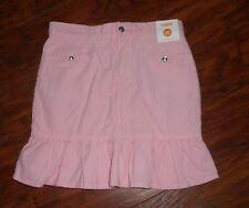 Gymboree HOMECOMING KITTY Girls Pink Sparkle Button Bow Corduroy Ruffle Skirt 10