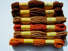 DMC TAPESTRY THREADS 6 colors BROWNS (set E)