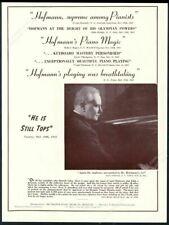 1942 Josef Hofmann photo piano recital tour booking trade print ad