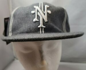 NWT New York Cubans Negro League Baseball museum fitted cap size 7 Gray