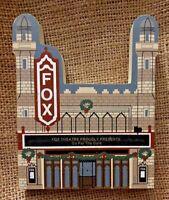 Vintage Atlanta Georgia FOX Theatre Christmas Wood House Model Holiday Wreath 2