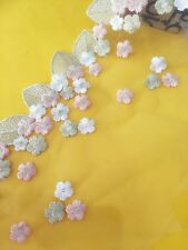 Floral Tulle Lace Trim Ribbon Fabric Flower Embroidery Wedding Trim Sewing HB32