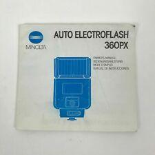 Minolta Auto Electroflash 360PX Owner's Manual Genuine Original Instruction