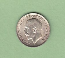 1917 Great Britain One Shilling Silver Coin - AU