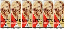 6 x SCHWARZKOPF LIVE COLOUR 8 WASHES HAIR COLOUR CHAMPAGNE Brand New