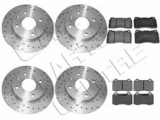 FOR VOLVO S60R S60 R 2.5T FRONT REAR PERFORMANCE DRILLED BRAKE DISCS BREMBO PADS