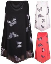 Butterfly Hip Length Sleeveless Tops & Shirts for Women