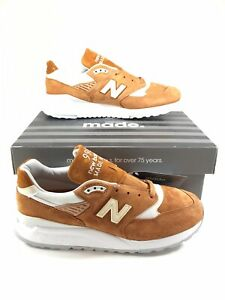 New Balance M998TCC MADE IN USA Shoes Mens Size 11.5 Brown Curry White Sneakers