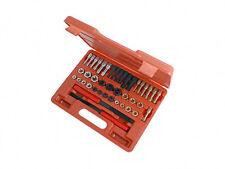 42pc re Hilo herramientas kit Set Unc Unf & Tamaños métricos grifos muere y archivos