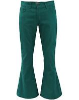 NEW MADCAP ENGLAND RETRO MOD 60s BELLBOTTOM FLARES Jeans Sixties TEAL MC220
