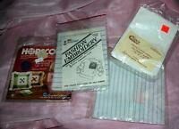 4 VTG MIXED TYPE PACKAGES NEEDLECRAFT CROSS STITCH FABRIC VARIOUS SIZES, iop