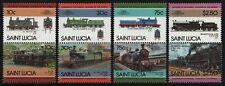 St. Lucia 1985 - Mi-Nr. 775-782 ** - MNH - Lokomotiven / Locomotives