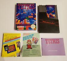 Nes juego-Tetris (con embalaje original) + manual de instrucciones de publicidad + (PAL-B)
