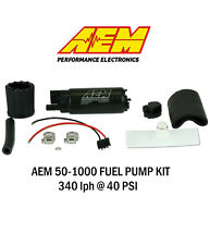 AEM 50-1000 340LPH High Performance EFI Fuel Pump w/Install Kit Strainer GENUINE