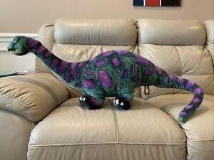 "Melissa & Doug Dinosaur Plush Jumbo Standing Bendable Brontosaurus 40"" Long"