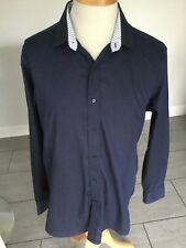 Gianni Feraud Mens Blue Long Sleeve Shirt Size 16 1/2. Great Condition.