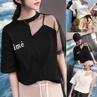 New Korean Fashion Women Summer Short Sleeve Casual Loose T Shirt Blouse Top Tee