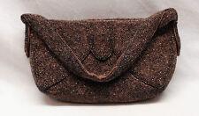Art Deco Purse Vintage Copper Brown Beaded K & G Charlet Evening Bag Bead 1940s