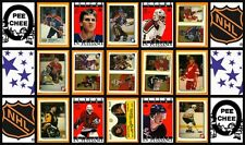 1988 O-Pee-Chee NHL Hockey Sticker Complete Set of 264 Brett Hull Probert Rookie