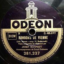 0762/Joseph Schmidt-Bonbons de la Vienne-AMOUR TZIGANE-Allemand chanté-gomme laque