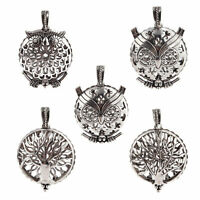 1pcs Ancient Silver Locket Pendant Aromatic Essential Oil Diffuser DIY Necklace