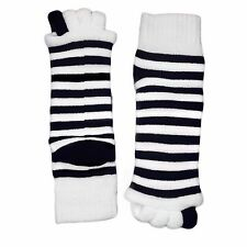 Alignment Socks Toe Separator Foot Toes Pain Relief Stripes Soft Spa Pedicure