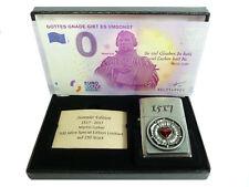 Zippo 500 Jahre Martin Luther Rose Limited Edition xxx/250 + 0 Euro Schein Gnade