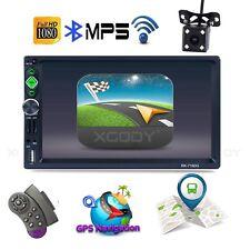 """7"""" 2 Din Autoradio RDS Bluetooth PKW GPS Navigationsgerät Mit Rückfahrkamera BT"""