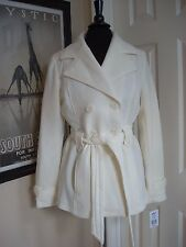 KOHLS J-2 Double Breasted Trench Coat Jacket Ivory Juniors Jrs XL NWT NWD $60